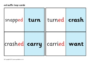 Word List: Words for adding -ed suffix - SparkleBox