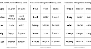 Word List Comparatives And Superlatives Sparklebox