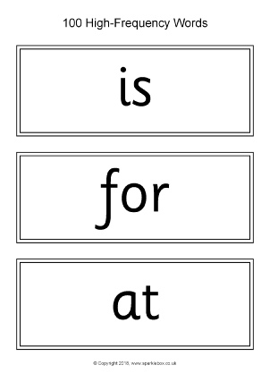 sight words cards