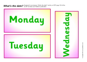 Days and Months Vocabulary Primary Teaching Resources and ...