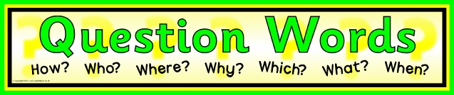 KS1 Question Words and Vocabulary Teaching Resources and Printables