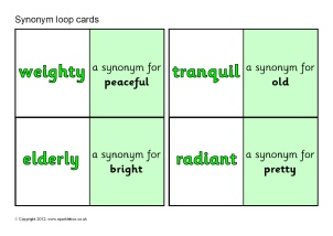 Synonyms and antonyms ks2 teaching resources and printables sparklebox synonym loop cards sb7624 ccuart Choice Image