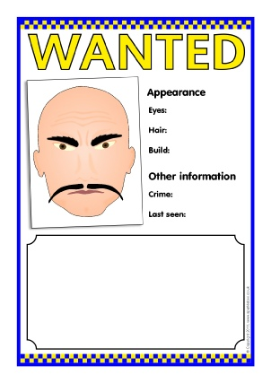 View Preview. Police Wanted Poster Templates ...  Printable Wanted Poster Template