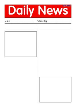 Newspaper Writing Frames And Printable Page Borders Ks1 Ks2