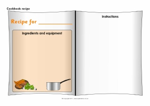 cookbook covers template