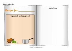 recipe writing frames and printable page borders ks1 ks2 sparklebox