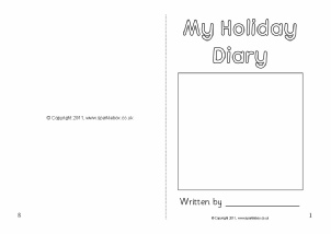 Diary booklet ks1 search results calendar 2015 for Diary writing template ks1