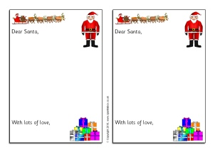 Christmas writing frames and printable page borders ks1 ks2 christmas list writing frames sb3249 spiritdancerdesigns Images