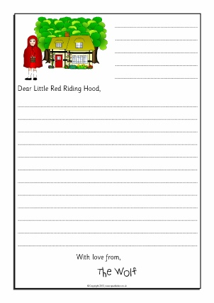 Letter writing frames and printable page borders ks1 ks2 sparklebox wolf sorry letter writing frames little red riding hood sb9125 spiritdancerdesigns Image collections