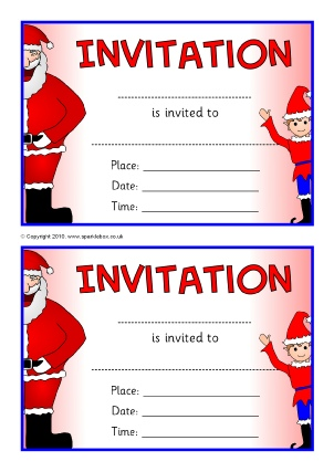 Invitation writing frames and printable page borders ks1 ks2 view preview christmas party invitation templates stopboris Images