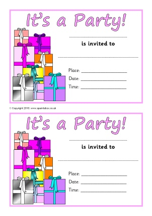 Invitation Writing Frames And Printable Page Borders Ks1 Ks2