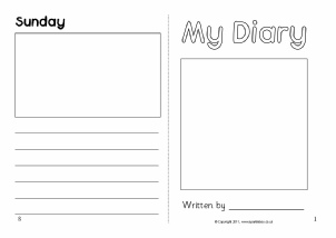 Diary writing frames and printable page borders ks1 ks2 for Diary writing template ks1