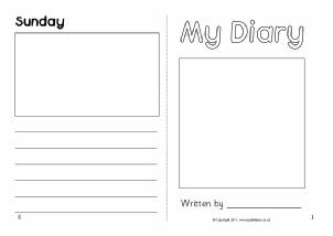 Diary Writing Frames And Printable Page Borders Ks1 Ks2 Sparklebox