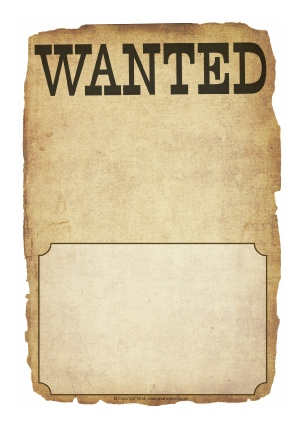 Wanted Poster Writing Frames And Printable Page Borders Ks  Ks