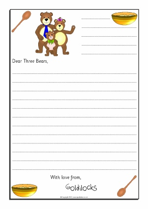 letter writing template for students