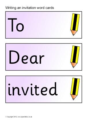 writing an invitation ks1