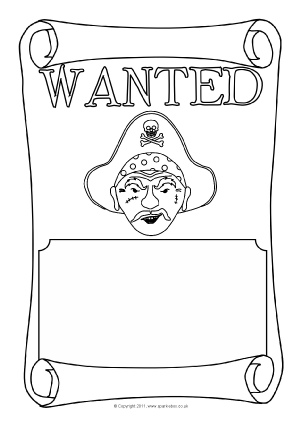 Wanted Poster Writing Frames and Printable Page Borders KS1 & KS2 ...