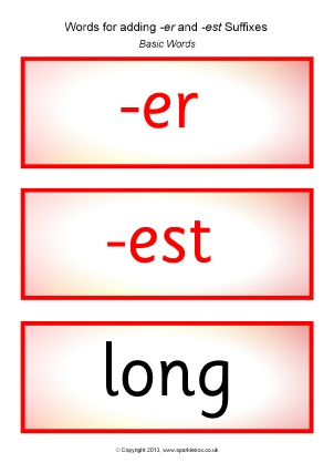 for adding suffixes er and est word cards sb9725 printable word cards ...