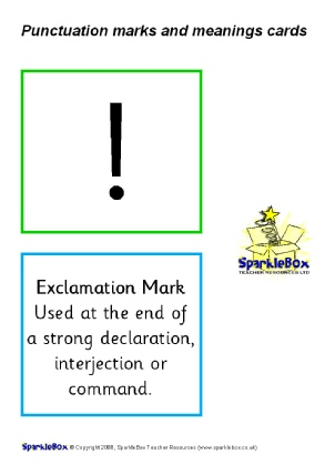 Punctuation Teaching Resources And Printables For Primary Sparklebox