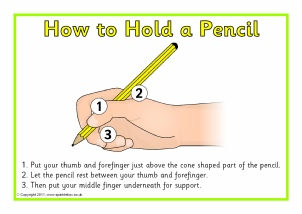 How to hold a pencil when writing a letter