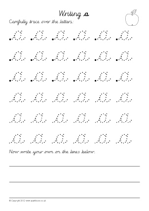 Letter Formation Worksheets for Early Years - SparkleBox