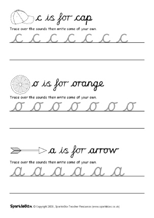 letter formation worksheets for early years sparklebox. Black Bedroom Furniture Sets. Home Design Ideas
