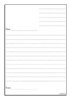 Writing a formal letter visual aids sb7947 sparklebox informal letter writing frames sb9016 altavistaventures Gallery