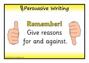 Persuasive writing year 5 planning