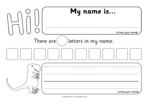 My Name Worksheet Pdf - Stay At Hand