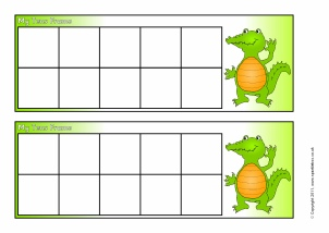 10 frame template printable - number bonds to 10 activities and teaching resources
