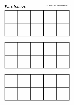 image relating to Ten Frames Printable identify Totally free Printable Tens Frames for Key Faculty - SparkleBox