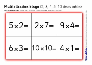 math worksheet : primary school multiplication teaching resources and activities  : Multiplication Worksheets 2 3 4 5 10
