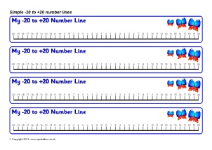 image about Number Line to 20 Printable named Printable Variety Strains for Early Yrs and Mystery Place One particular