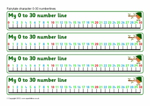 image about Printable Number Line 1-30 identified as Printable Variety Traces for Early Decades and Principal Position One particular