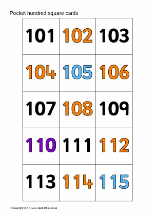 EYFS & KS1 Hundred Squares Printables and Teaching Resources ...