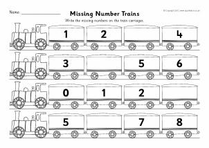 Worksheets Fill Missing Spaces With Numbers 1 -9 counting activities primary teaching resources sparklebox missing numbers train worksheets in 1s sb7510