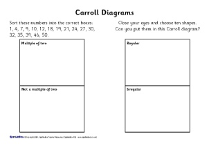 caroll and venn diagrams ks teaching resources and printables  view preview year  carroll and venn diagram worksheets