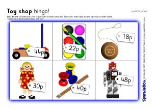 Activities on Math Bingo Worksheets