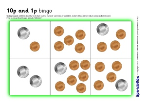graphic regarding Money Bingo Printable called KS1 Cash and Revenue Actions and Printables - SparkleBox