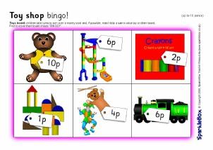 graphic regarding Money Bingo Printable called KS1 Cash and Economic Things to do and Printables - SparkleBox