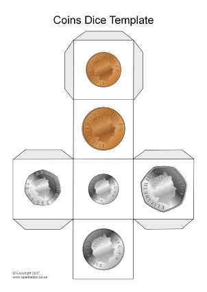 photograph about Printable Coins identified as Cash Training Elements and Printables - SparkleBox