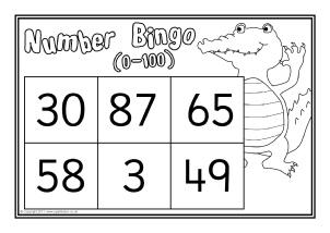 graphic regarding Bingo Calls Printable called Printable Variety Bingo / Lotto Video games - SparkleBox