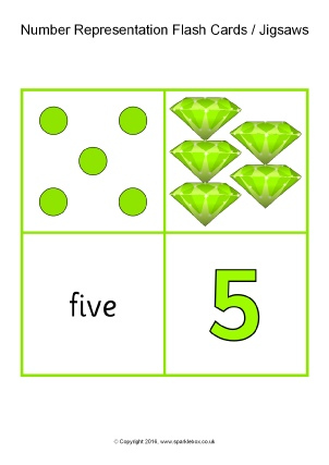 view preview number representation flash cards jigsaws