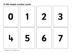 Printables Numbers 1-100 Printable number flash cards primary teaching resources printables view preview