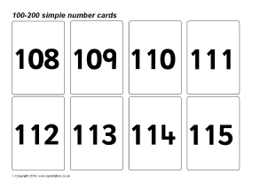 image about Printable Number Flashcards titled Amount Flash Playing cards Standard Schooling Supplies Printables