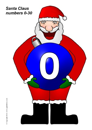This is a picture of Christmas Numbers Printable in circle