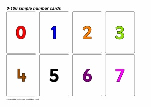 picture relating to Printable Number Flashcards referred to as Quantity Flash Playing cards Principal Schooling Components Printables