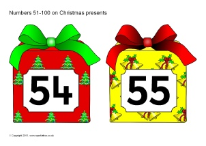 photograph relating to Christmas Numbers Printable named Xmas-Themed Quantity Clroom Demonstrate Materials - SparkleBox