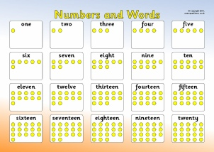 Number Words Teaching Resources and Printables - SparkleBox