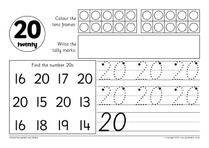 Number Worksheets and Printables for Primary School - SparkleBox